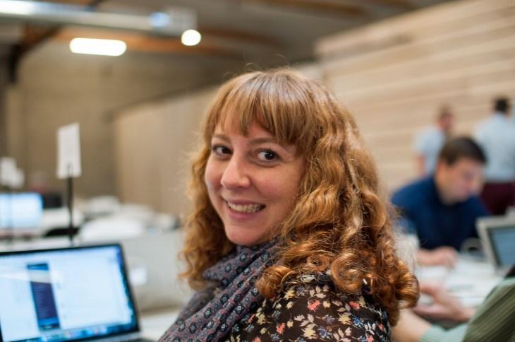 Siobhan at WordCamp San Francisco (photo courtesy Jan Dembowski)