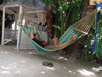 D in a hammock