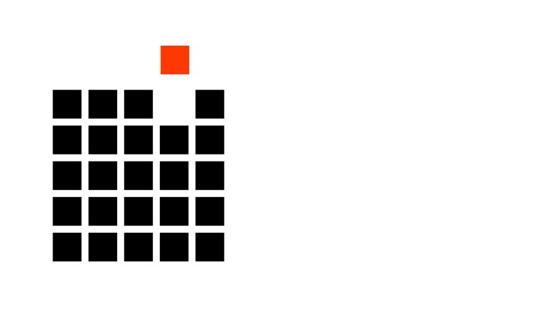 black-squares-one-red