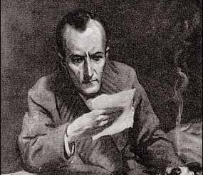 """DEAR ME, WATSON,"" SAID HOLMES, STARING WITH GREAT CURIOSITY AT THE SLIPS OF FOOLSCAP."