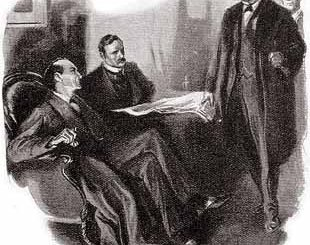 A MOMENT LATER THE TALL AND PORTLY FORM OF MYCROFT HOLMES WAS USHERED INTO THE ROOM.