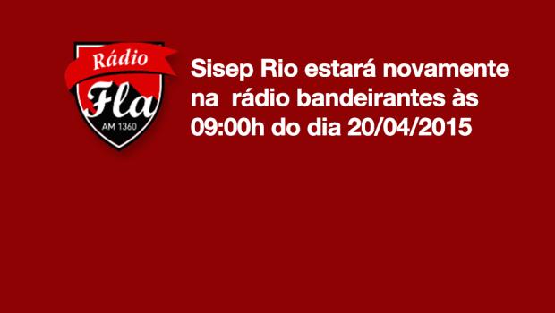 Servidores públicos do município do Rio de Janeiro, o Sisep Rio estará novamente na rádio bandeirantes às 09:00h do dia 20/04/2015 Estação 1360 AM. Pode baixar pelo aplicativo tunein ou […]
