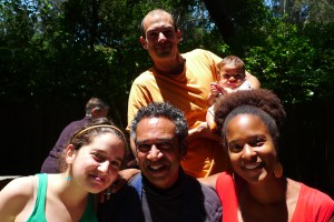 Me, some friends, and husband and son (Sun) at Green Gulch