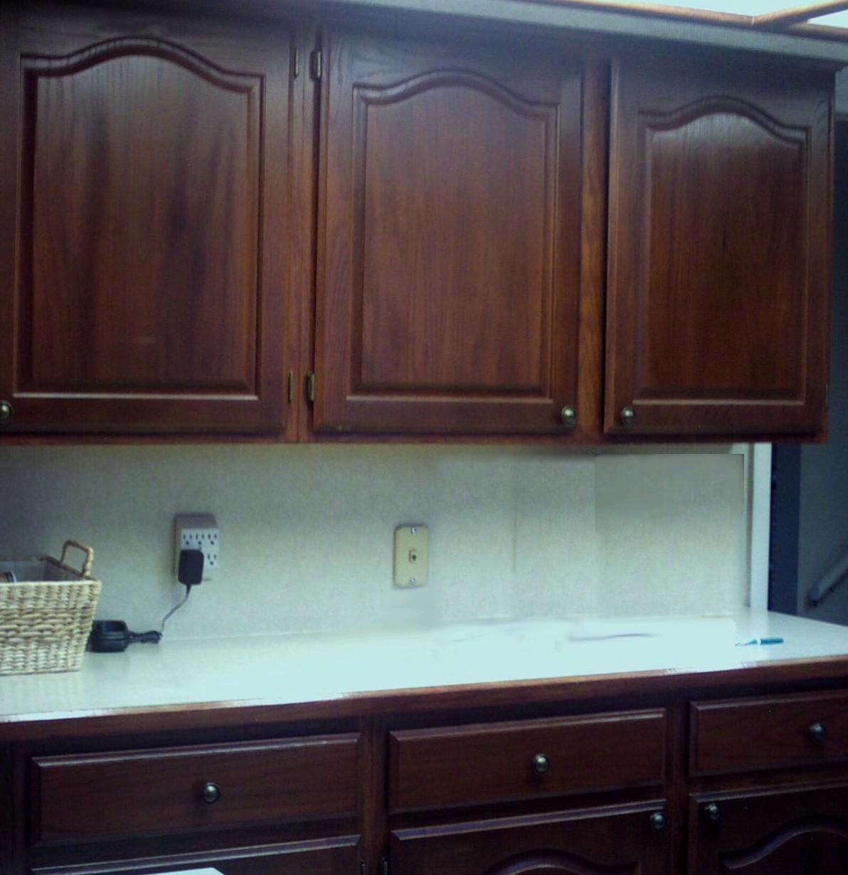 dark cabinet refinishing refinish kitchen cabinets Kitchen cabinets and cupboards refinished in cherry wood color