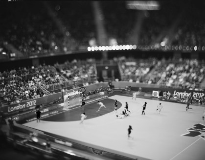 """Summer Olympics, London, 2012 Handball may be one of the fastest Olympic games there is, but Burnett says it's hockey, which he's been photographing since CC played at the Broadmoor arena in 1967, that's still challenging for him. """"Too fast!"""" he comments. """"Way too fast!"""""""