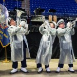 The Blue Band entertained the crowd at the Military Appreciation tailgate at the Bryce Jordan Center. Penn State vs. Army, Oct. 3, 2015.