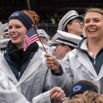 Blue Band members show their Military Appreciation Day spirit. Penn State vs. Army, Oct. 3, 2015.