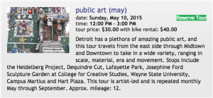 Wheelhouse Detroit hosts a public art bike tour this month