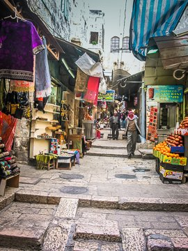 A Typical Street in Old Jerusalem (©simon@myecelecticimages.com)