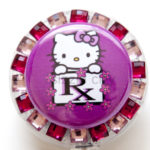 SIZZLE CITY Custom Rhinestone Retractable ID Badge Reels: Fuchsia RX Hello Kitty