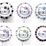 SIZZLE CITY Custom Colored Hello Kitty Nerd Bling Rhinestone Retractable ID Badge Reel Collection
