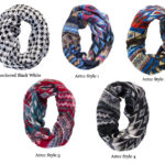 Colorful Soft Light-Weight Aztec Statement Fashion Infinity Scarves