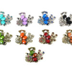 New Custom Bling Rhinestone Peacock Jeweled Butterfly Hair Clip: Group Shot