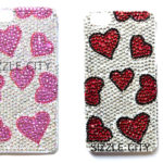 Custom Bling Rhinestone Apple iPhone 5/5G & 5S Hard Shell Protective Snap-On Case: Group Shot