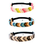 SIZZLE CITY Custom Colored Chevron Fashion Glitter Statement Elastic Headbands: Group Shot