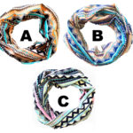 Custom Pastel Colored Light-Weight Aztec Pattern Fashion Infinity Loop Scarves: Pastel Aztec Group Shot