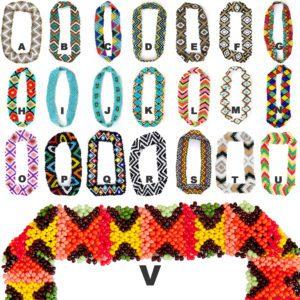Thick Native American Pattern Seed Bead Elastic Headbands: Group Shot 2