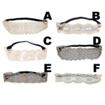 Custom Bohemian Pattern Embroidered Lace Elastic Stretch Headbands: Group Shot