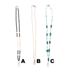 Custom Colored Bling Shimmering Stone Beaded Magnetic Breakaway Lanyards: Group Shot