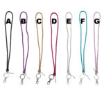 Custom Colored Bling Shimmering Braided Leather Rope Rhinestone Lanyards: Group Shot