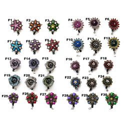 Wholesale Bulk Flower Badge Reel Retractable ID Badge Holder