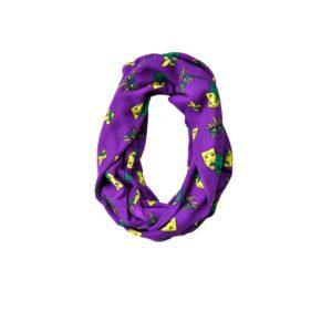 Purple Mardi Gras Patterned Fashion Infinity Loop Scarf