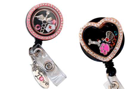 Blog Header: Our New and Improved Charm Locket Badge Reels - We are so very proud to announce...we've finally done it! Not only does our new floating charm locket badge reels design hold the best quality in any marketplace but they also come at the best price available anywhere! Our designers are so excited to offer our newest collections.