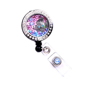 Fish Charm Locket Badge Reel Retractable ID Badge Holder