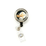 Mini Seashell Charm Locket Badge Reel Retractable ID Badge Holder: Featured Image