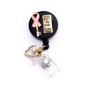 3D Key to the Cure Pink Ribbon Retractable Badge Holder: Featured Image