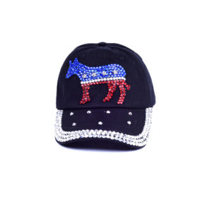 Bling Democratic Rhinestone Donkey Hat
