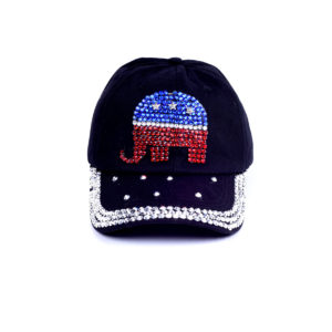 Bling Republican Rhinestone Elephant Hat: Featured Image