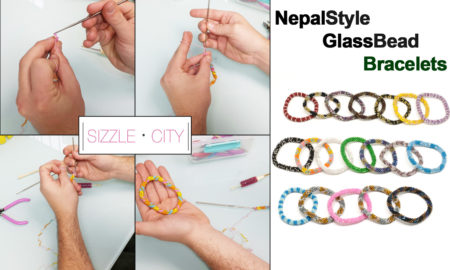 Learn how to make a your own Nepal-Style Glass Bead Roll-On Bracelet.