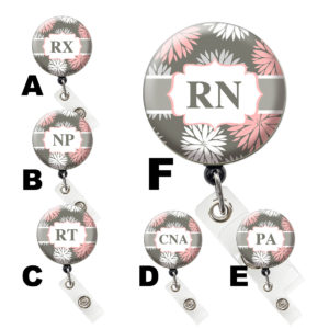 Pom Pom Flower Medical Field Retractable ID Badge Reels: Featured Image