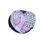 Breast Cancer Pink Ribbon Heart Stethoscope Tag: Featured Image