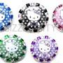 SIZZLE CITY Custom Retractable ID Badge Reels: Hello Kitty Poka-Dots Collection