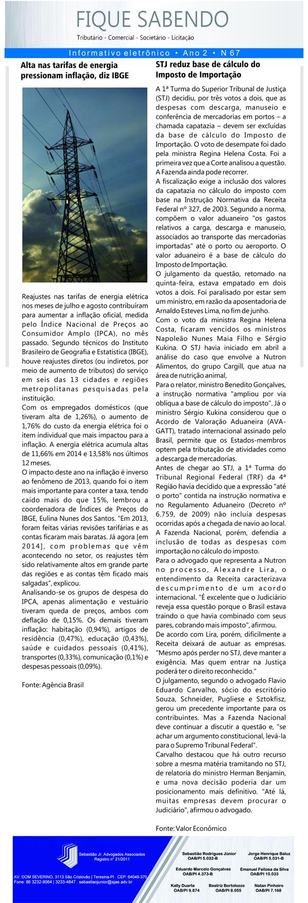 News n° 67- ano 2 - 09.09