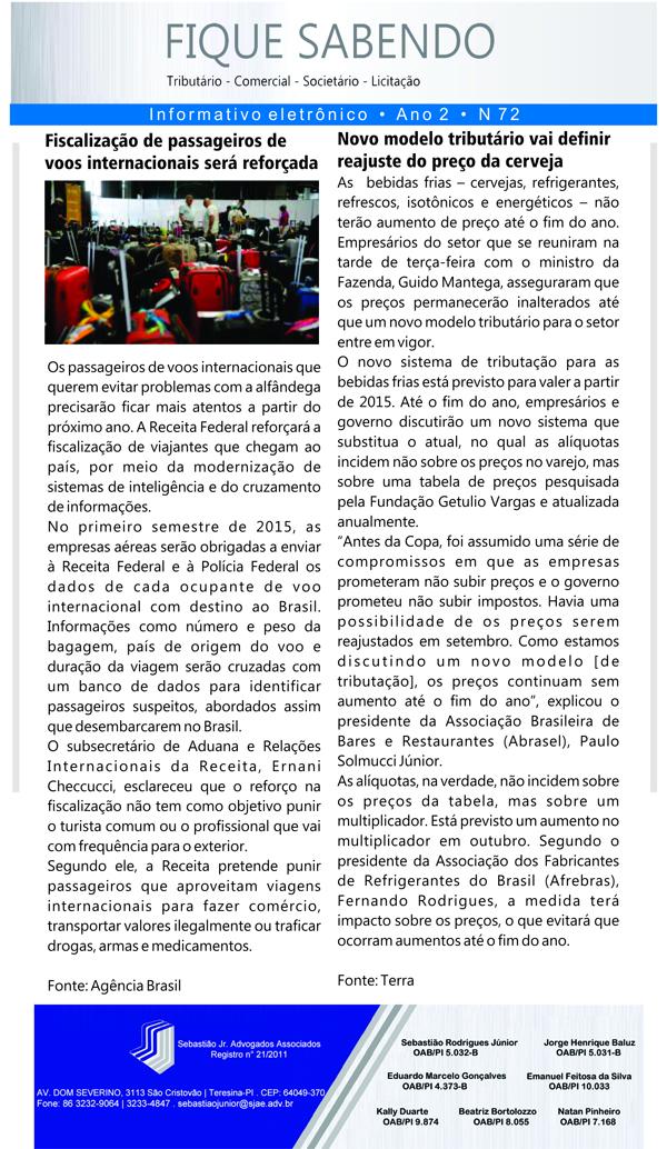 News n° 72- ano 2 - 25.09