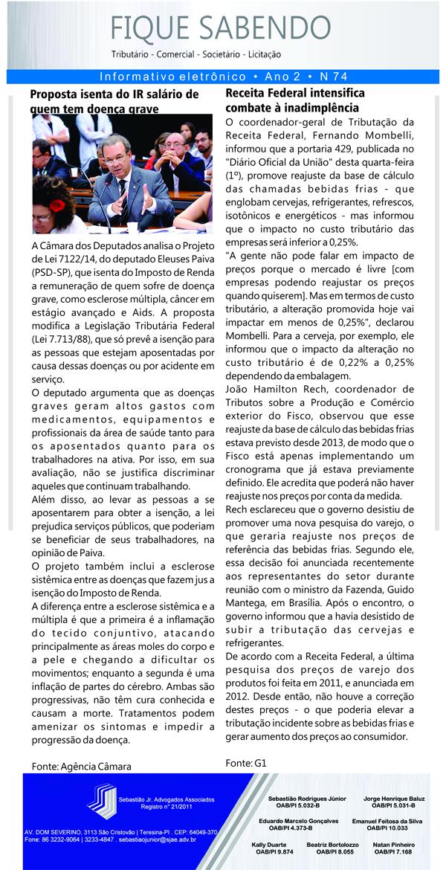 News n° 74- ano 2 - 02.10