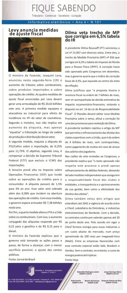 News n° 101-20-01