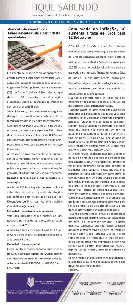 News n° 102- ano 4 -22.01