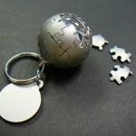 Wikipedia globe in keychain