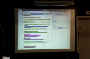 The Etherpad at #MozParty Newcastle