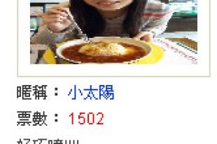 �活動截止】食尚玩家海�主�人��太陽總計得票1502票