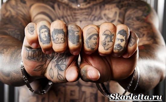 Тату на указательный палец