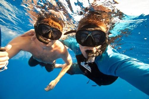 Alex and Tyler underwater