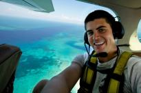 Tyler Aerial above coral reef
