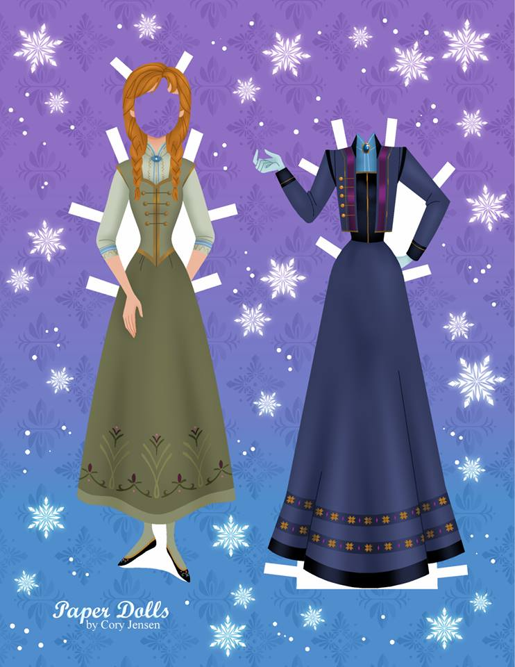 Disneys Frozen Paper Dolls SKGaleana