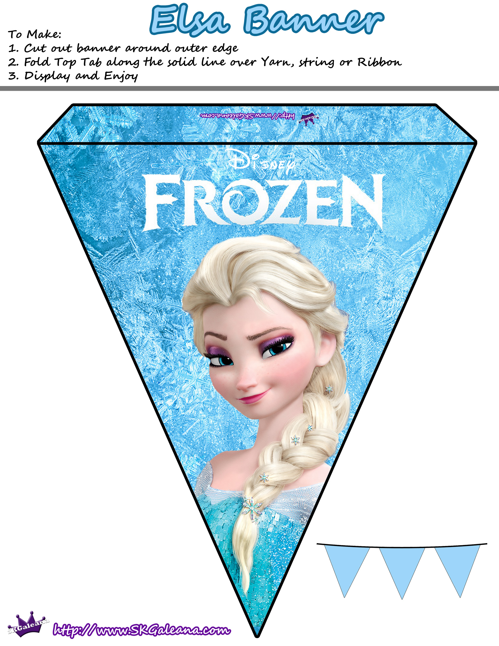 Zany image throughout frozen banner printable