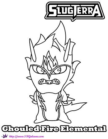 Ghoul Fire Elemental Coloring Page from Slugterra: Return